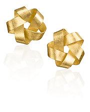Gold Five Point Earrings by Petra Class (Gold Earrings)
