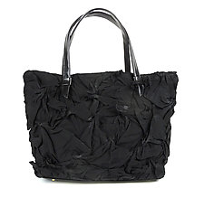 Toto Handbag in Black by Yuh  Okano (Shibori Purse)