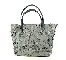Toto Handobag in Sage Gray by Yuh Okano (Shibori Purse)