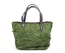 Toto Handbag in Sage Green by Yuh Okano (Shibori Purse)