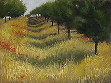 Plum Orchard, St. Aubin by Sherry Schreiber (Giclee Print)