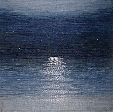 Midnight Moonlight by Sherry Schreiber (Fiber Wall Hanging)