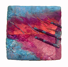Red Sky at Night... by Sharron Parker (Fiber Wall Hanging)