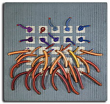 Earth Series No. 18 by Laurie dill-Kocher (Fiber Wall Hanging)