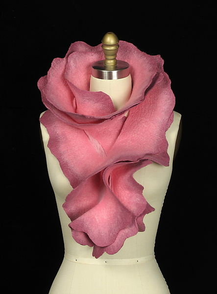 Rose Scarf in Pink and Mauve