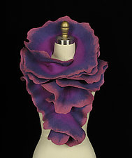 Large Rose Scarf: Purple, Violet, Rose by Jenne Giles  ()