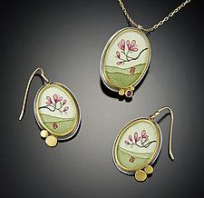 Magnolia Earrings by Ananda Khalsa (Gold & Silver Earrings)