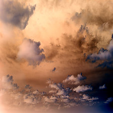 Skyscape 2 by Marcie Jan Bronstein (Color Photograph)