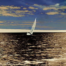 Sailing, Late Afternoon by Marcie Jan Bronstein (Color Photograph)