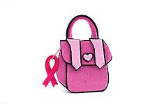 Pink Purse Brooch by Danielle Gori-Montanelli (Felt Brooch)