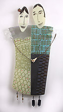 Bernadette and Frank by Nina  Cambron (Art Glass Wall Sculpture)