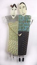 Bernadette and Frank by Nina  Cambron (Art Glass Wall Sculpture)