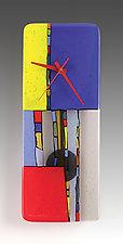 Primary Colors Pendulum Clock by Nina  Cambron (Art Glass Clock)