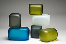 Stacked Cube Series by Christopher Jeffries (Art Glass Sculpture)