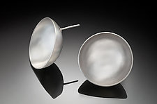 Lunar Earrings by Rina S. Young (Silver Earrings)