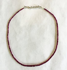 Pink Sapphire Necklace by Rina S. Young (Silver & Stone Necklace)