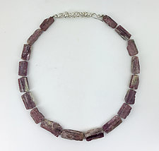 Tourmaline in Quartz Necklace by Rina S. Young (Silver & Stone Necklace)