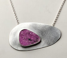 Eye of the Storm Necklace by Rina S. Young (Silver & Stone Necklace)