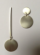Asymmetrical Jewelry by Rina S. Young (Silver Necklace and Earrings)
