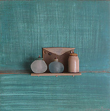 Bronze Still Life 79 by Jack McLean and Alice McLean (Metal Wall Sculpture)