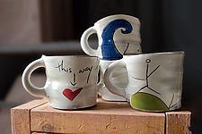 Love Mugs by Noelle VanHendrick and Eric Hendrick (Ceramic Mug)