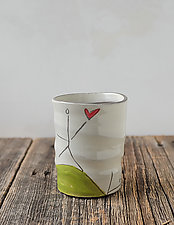 Love the Earth Cup by Noelle VanHendrick and Eric Hendrick (Ceramic Drinkware)