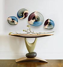Elemental Hall Table by Derek Secor Davis (Wood Console Table)