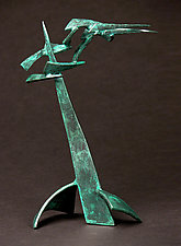 Small Organics in Motion VIII by Charles McBride White (Metal Sculpture)