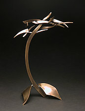Small Organics in Motion IX by Charles McBride White (Metal Sculpture)