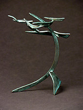 Small Organics in Motion 4 by Charles McBride White (Metal Sculpture)