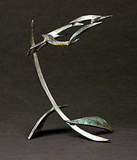Small Organics in Motion V by Charles McBride White (Metal Sculpture)