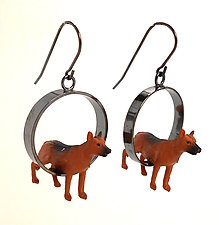 Shepherd Earrings by Kristin Lora (Silver Earrings)