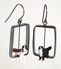 Dog Earrings by Kristin Lora (Silver Earrings)