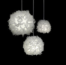 Puff Light Trio Chandelier by Josh Urso (Fiber Pendant Lamp)