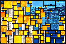 North Shore Aspen by Josephine A. Geiger (Art Glass Wall Sculpture)