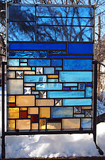 Shoreline by Josephine A. Geiger (Art Glass Sculpture)