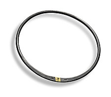 Forged Bangle Bracelet by Peg Fetter (Gold & Silver Bracelet)