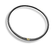 Forged Bangle Bracelet by Peg Fetter (Gold & Silver Bracelet)