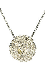 Floral Bead by Analya Cespedes (Gold & Silver Pendant)