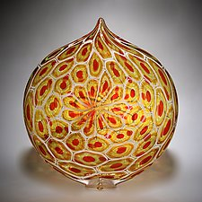 Sunset Ellipse by David Patchen (Art Glass Vessel)