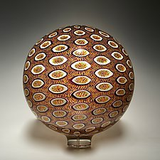 Autum Sphere by David Patchen (Art Glass Sculpture)