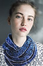 Alaria Stitched Infinity Scarf by Jeannet Leendertse  (Silk Scarf)