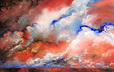 Mountain Clouds by Judy Hawkins (Oil Painting)