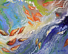 Dancing With the Currents by Judy Hawkins (Oil Painting)