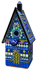 Paradise Birdhouse by Angie Heinrich (Glass Sculpture)