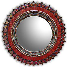 Gift Series: Brick Red Sun by Angie Heinrich (Mosaic Mirror)
