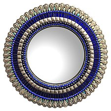 Gift Series: Cobalt Drop by Angie Heinrich (Mosaic Mirror)