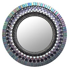 Gift Series: Purple Haze by Angie Heinrich (Mosaic Mirror)