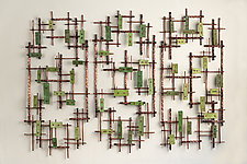 Meadows by Hannie Goldgewicht (Ceramic Wall Sculpture)
