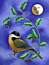 Winter Chickadee by Wynn Yarrow (Giclee Print)